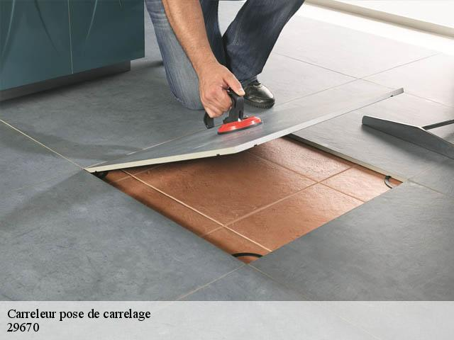 Pose de carrelage
