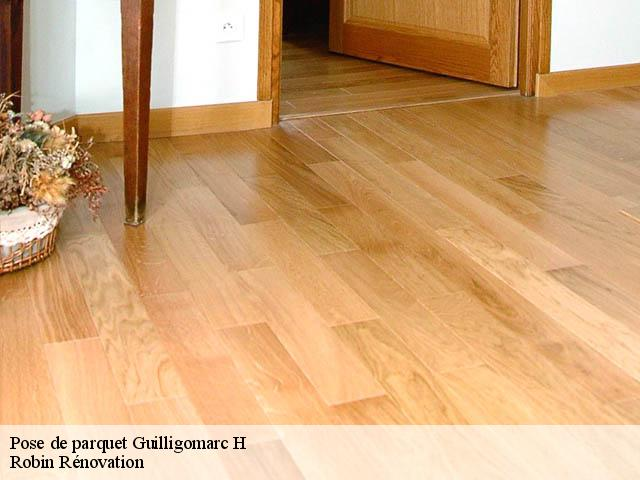 Pose de parquet  guilligomarc-h-29300 Robin Rénovation