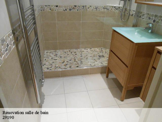 Rénovation de salle de bain à Brasparts tél: 02.46.26.02.00